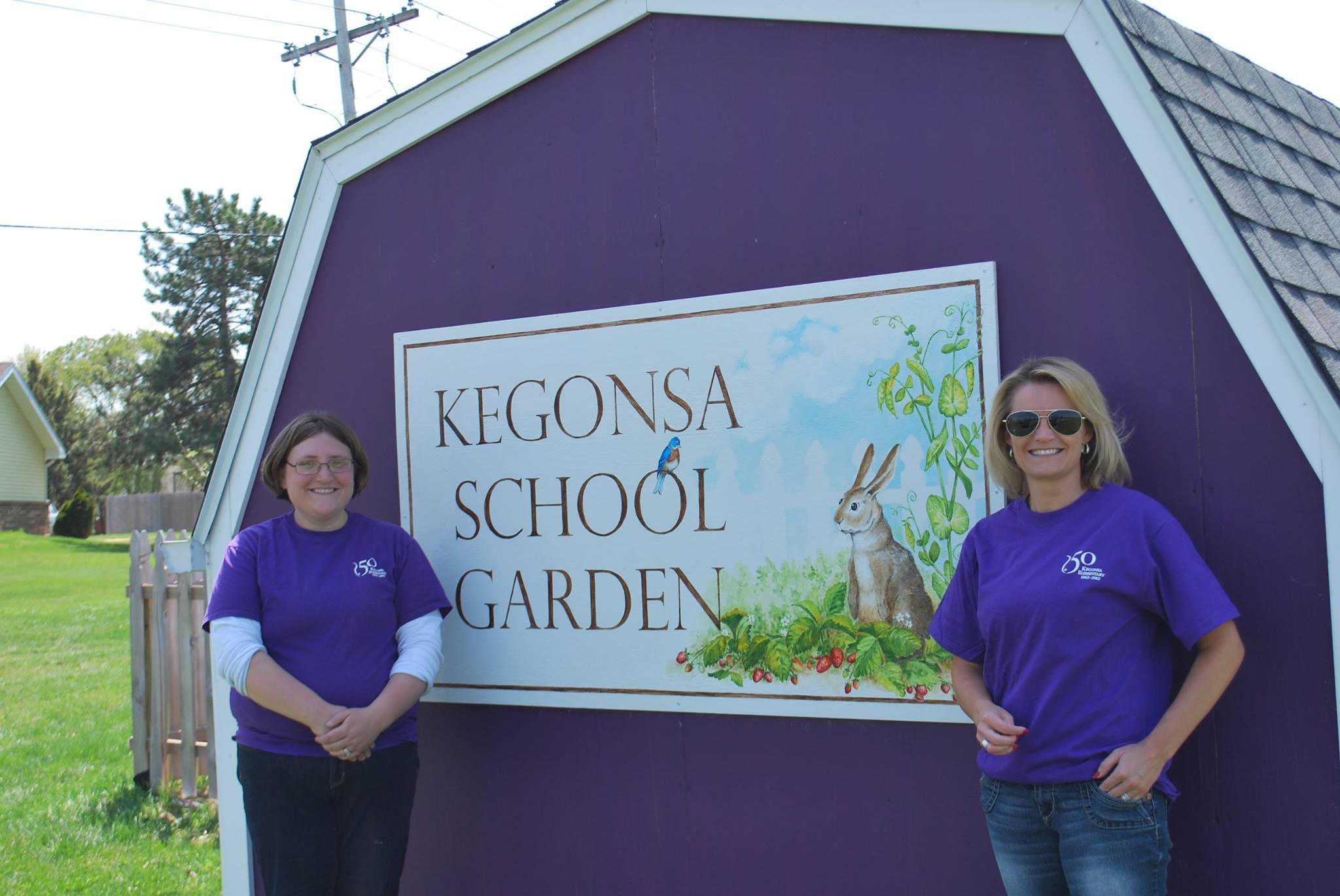 A public school garden funded in part by a grant from the Foundation